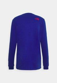The North Face - KARAKORAM GRAPHIC TEE - Long sleeved top - blue - 1