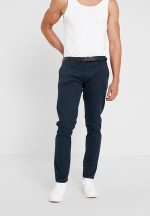 MENS STRETCH WITH BELT - Chinot - navy