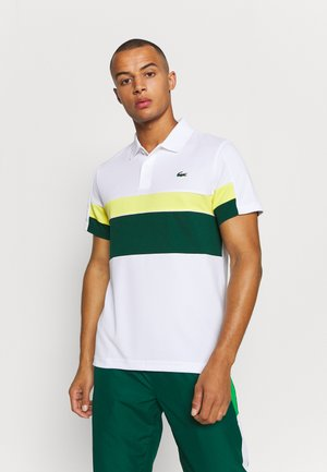 TENNIS TOUR - Polo shirt - blanc/vert/jaune/blanc/noir