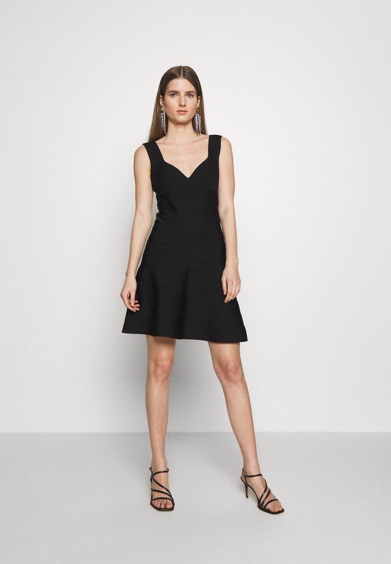 Hervé Léger - ICON FLARE SKIRT DRESS - Robe de soirée - black