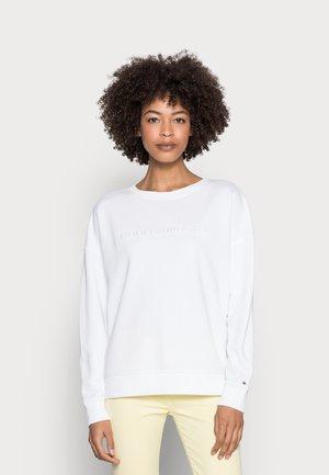 OVERSIZED TONAL OPEN - Sweatshirt - white