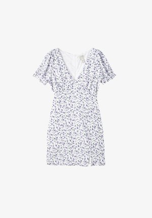 BEDRUCKTES MIT SCHLITZ - Denní šaty - white