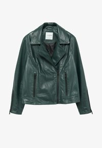 Violeta by Mango - ONETIOR8 - Leather jacket - dunkelgrün - 5