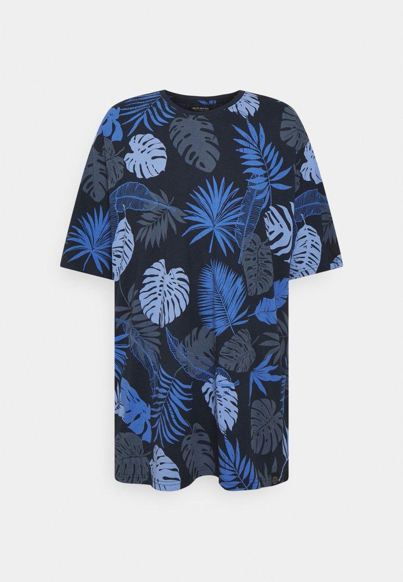 Shine Original - PALM O NECK TEE - Print T-shirt - navy