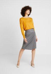 Soyaconcept - AMAJA - A-snit nederdel/ A-formede nederdele - dark grey melange - 1