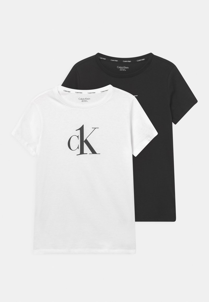 Calvin Klein Underwear - 2 PACK - Koszulka do spania - white/black