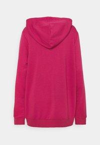 adidas Performance - Zip-up hoodie - pink/white - 1