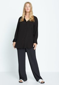 Violeta by Mango - LAURITA - Button-down blouse - černá - 1