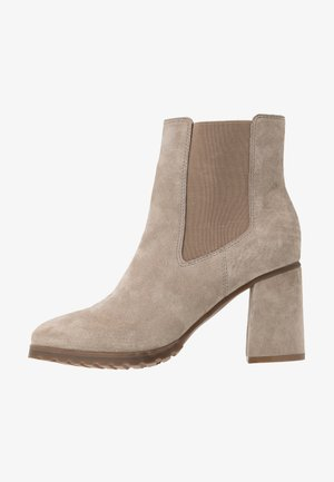 LEATHER ANKLE BOOTS - Korte laarzen - taupe