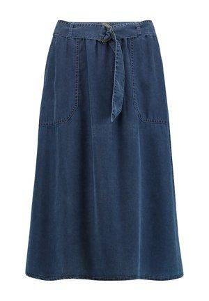 A-line skirt - dark blue denim
