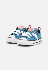 Converse - CHUCK TAYLOR ALL STAR STREET SUMMER COLOR UNISEX - Trainers - aegean storm/bright poppy/black - 1