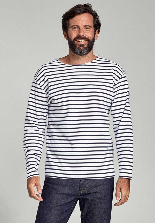 LOCTUDY - MARINIÈRE - T-SHIRT - T-shirt à manches longues - blanc  navire