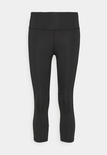 EPIC FAST CROP - Tights - black/silver