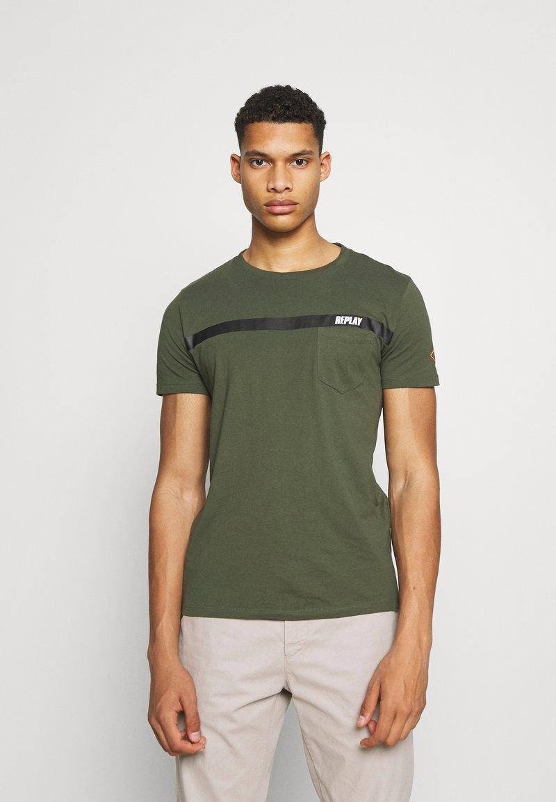 Replay - Print T-shirt - dark military