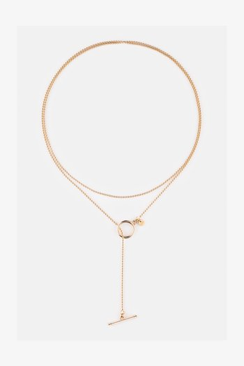 Chunky T-Bar  - Necklace - gold
