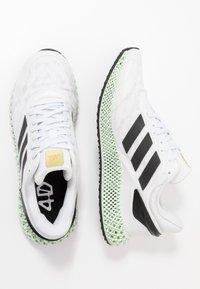 adidas Performance - 4D 1.0 - Obuwie do biegania treningowe - footwear white/core black/gold - 1