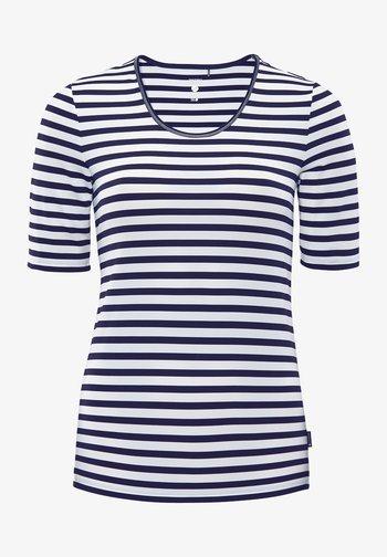 DESY - Print T-shirt - weiß/dunkelblau
