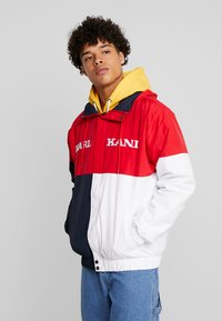 Karl Kani - RETRO BLOCK WINDBREAKER - Summer jacket - red/black/white - 0