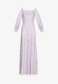 Maya Deluxe - OFF SHOULDER LONG SLEEVE MAXI DRESS WITH EMBELLISHMENT - Ballkjole - soft lilac - 5