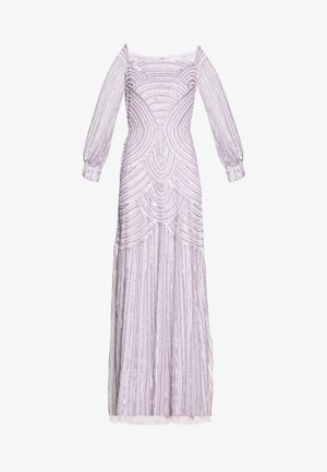 OFF SHOULDER LONG SLEEVE MAXI DRESS WITH EMBELLISHMENT - Ballkjole - soft lilac