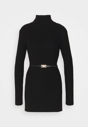 WOMENS SWEATER WITH BELT - Pullover - black