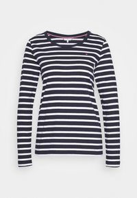 Tommy Hilfiger - CANDICE ROUND - Long sleeved top - breton white/desert sky - 4