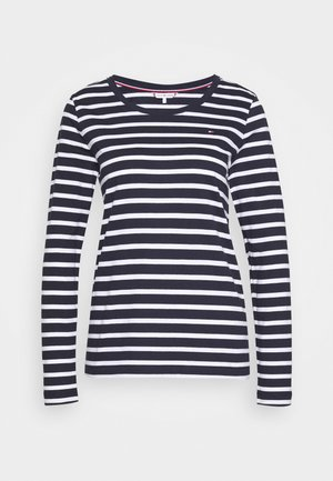 CANDICE ROUND - Long sleeved top - breton white/desert sky