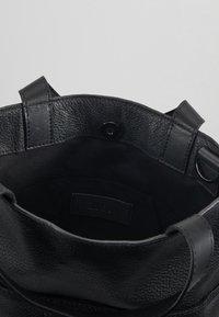 Zign - UNISEX LEATHER - Shopping bags - black - 3