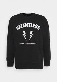 RELENTLESS SPORT BOLTS - Sweatshirt - black/off white