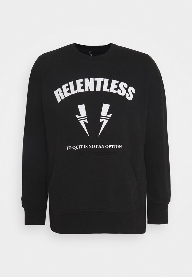 RELENTLESS SPORT BOLTS - Collegepaita - black/off white