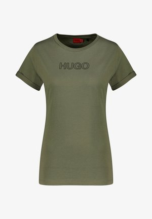 THE SLIM TEE - Print T-shirt - sand