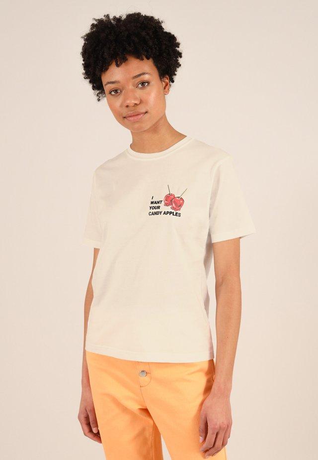 CANDY APPLES - T-shirt med print - beige