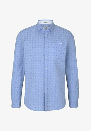 GEMUSTERTES - Overhemd - light blue dot clipper