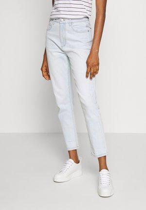 STRETCH MOM - Jeans slim fit - blurstone light blue rips