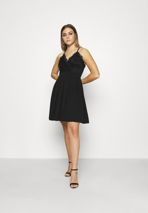 SKATER DRESS - Vestido de cóctel - black