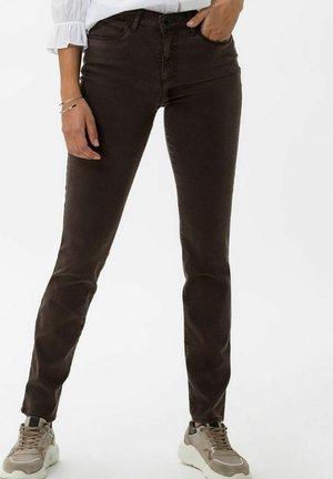SHAKIRA - Slim fit jeans - dark brown