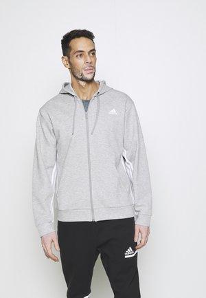 Training jacket - medium grey heather/white