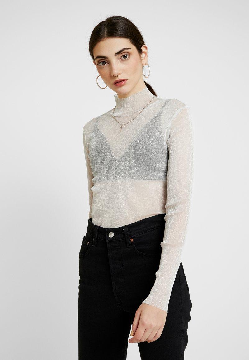 Monki - JAVA - Long sleeved top - white/silver