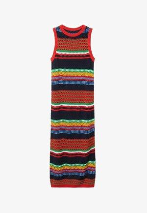 Pletené šaty - rouge