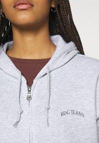 BDG Urban Outfitters - ZIP THROUGH HOODIE - Zip-up hoodie - grey marl - 5