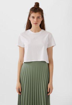 MIT KURZEN ÄRMELN - T-paita - white