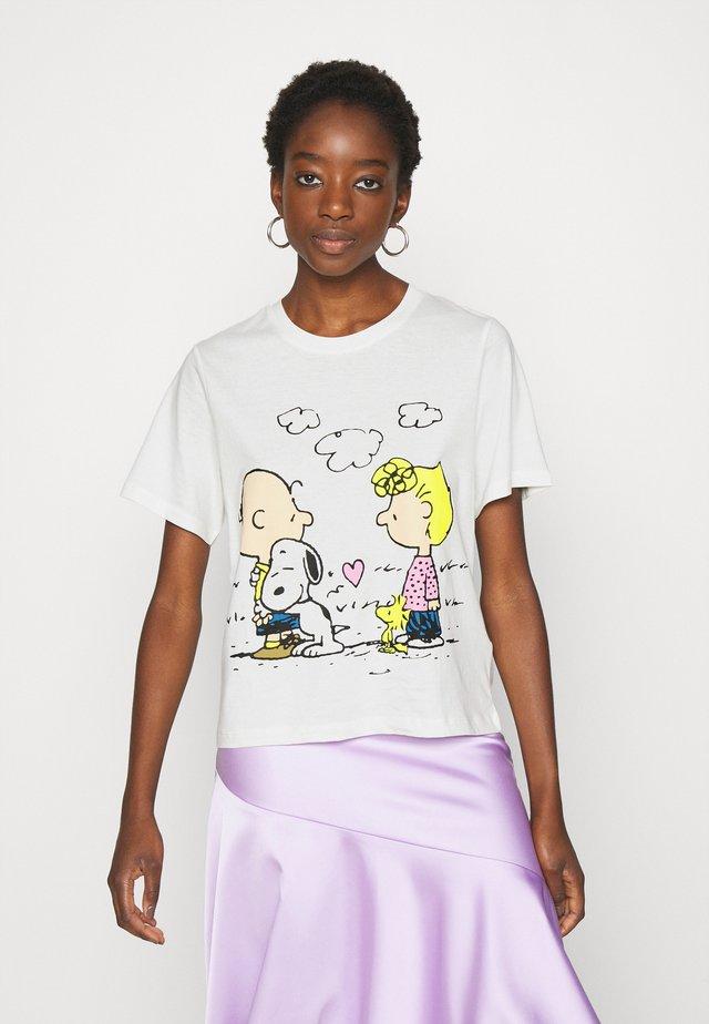 PEANUT LIFE PRINT - Camiseta estampada - cloud dancer
