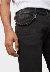 TOM TAILOR - TROY - Slim fit jeans - black stone wash denim - 4