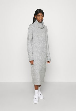 ONLBRANDIE ROLL NECK DRESS - Sukienka dzianinowa - light grey melange