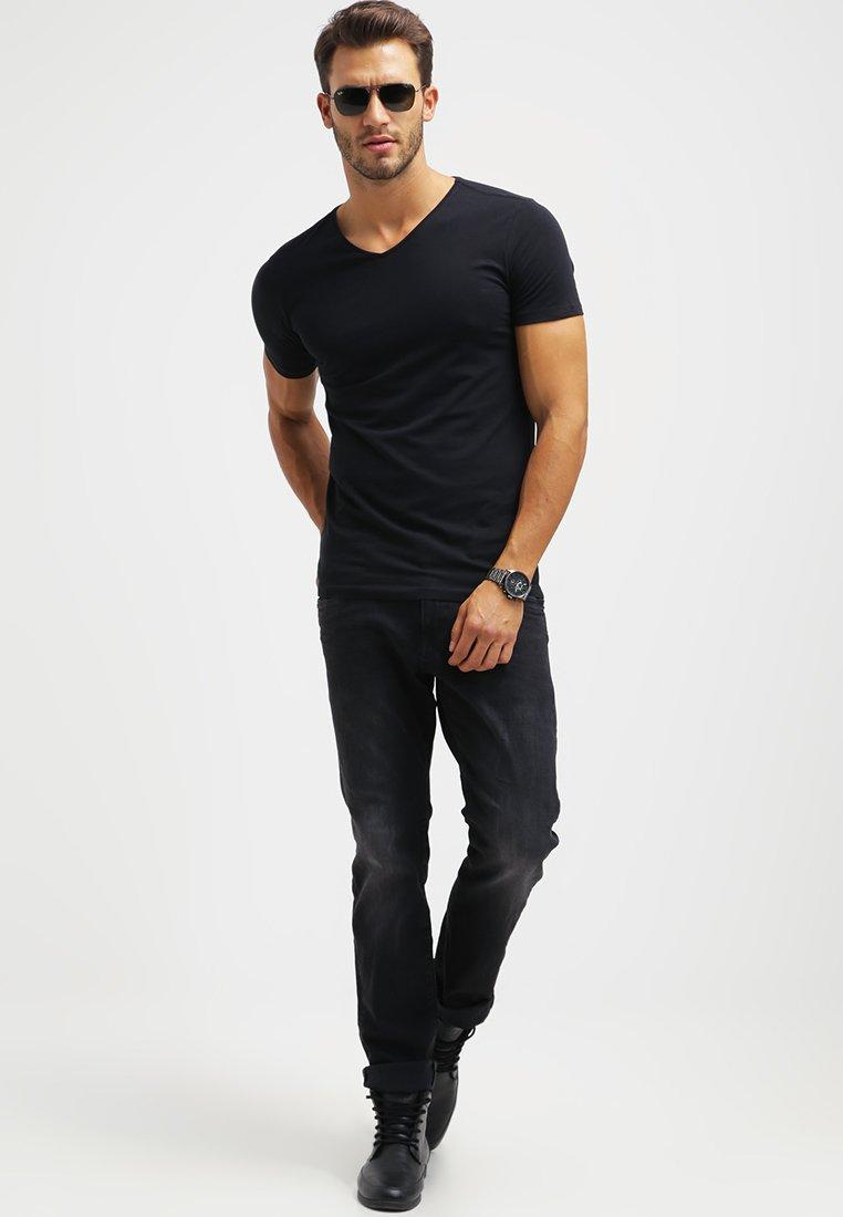 Petrol Industries - 2 PACK - T-shirts basic - black