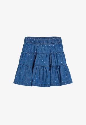 TIERED - Mini skirt - blue