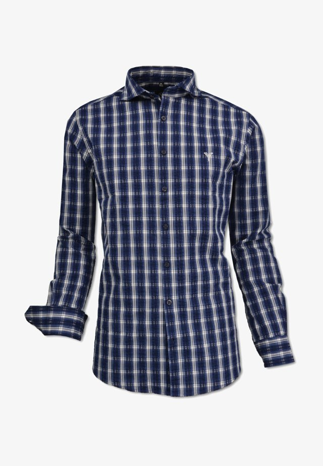 KARIERTES - Shirt - blau