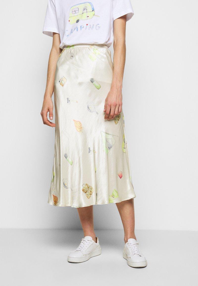 CECILIE copenhagen - GYRITH - Pencil skirt - cream