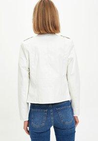DeFacto - Faux leather jacket - white - 2