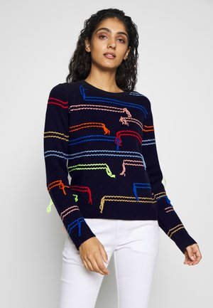 HORIZONTALS  - Jumper - navy/multi